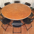 "Table - Round - 60"" - Seats 8"