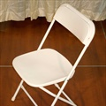 Chair - White - Molded Plastic Back & Seat w/ Metal/Aluminum Frame